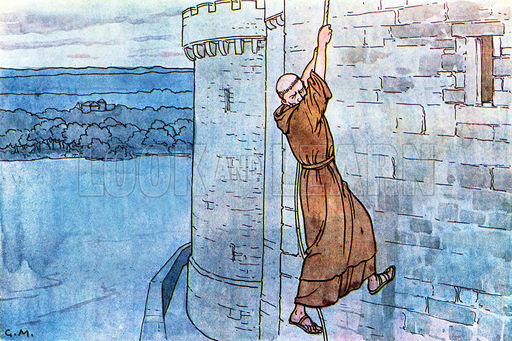 An illustration of the escape from the Tower of London